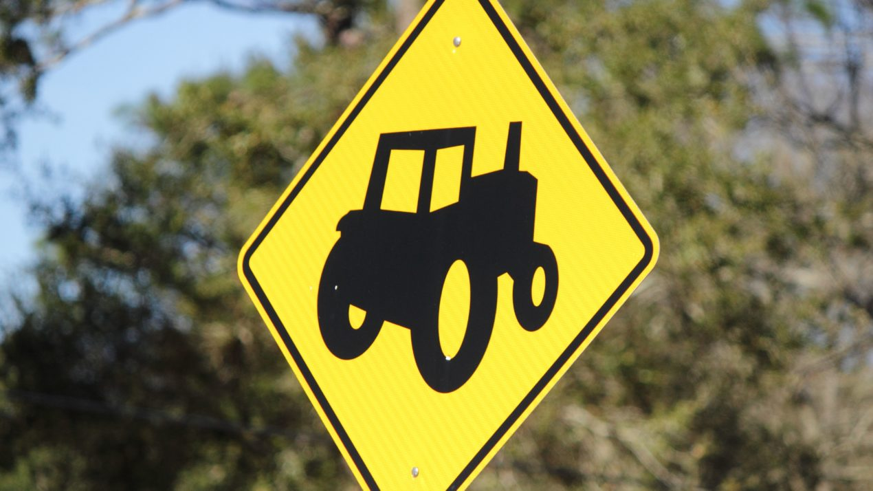 Farm Equipment Lacks Safety Features Commonly Found in Most Cars