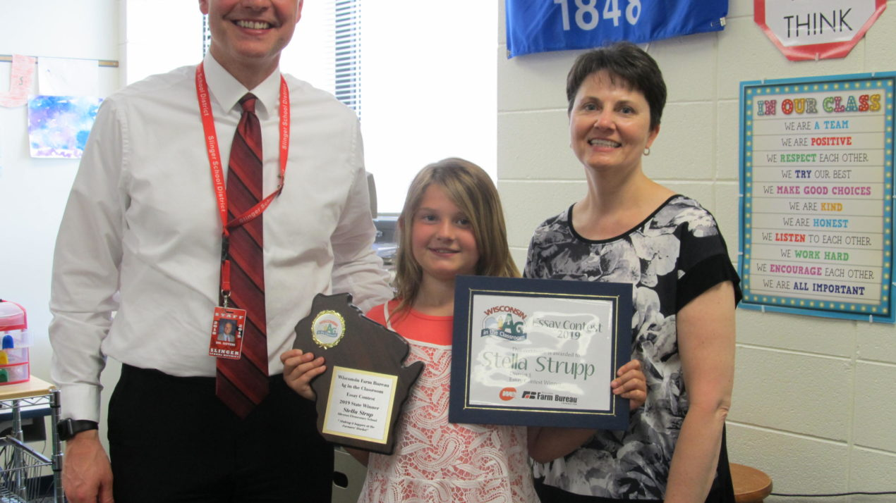 allenton student wins ag in the classroom essay contest
