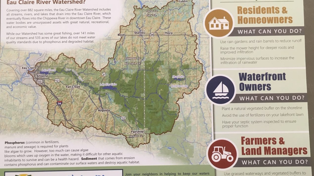 Eau Claire Watershed Coalition distributing informational placemats