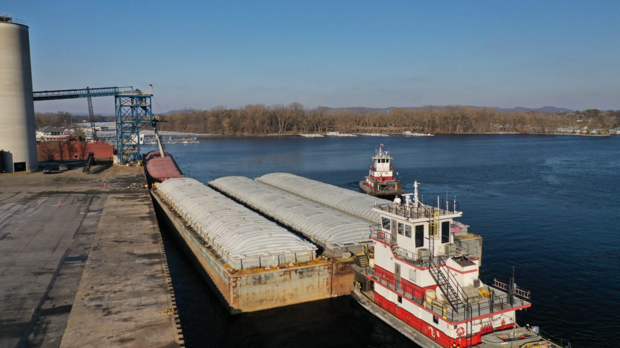 River levels allow favorable barge movement compared to 2019