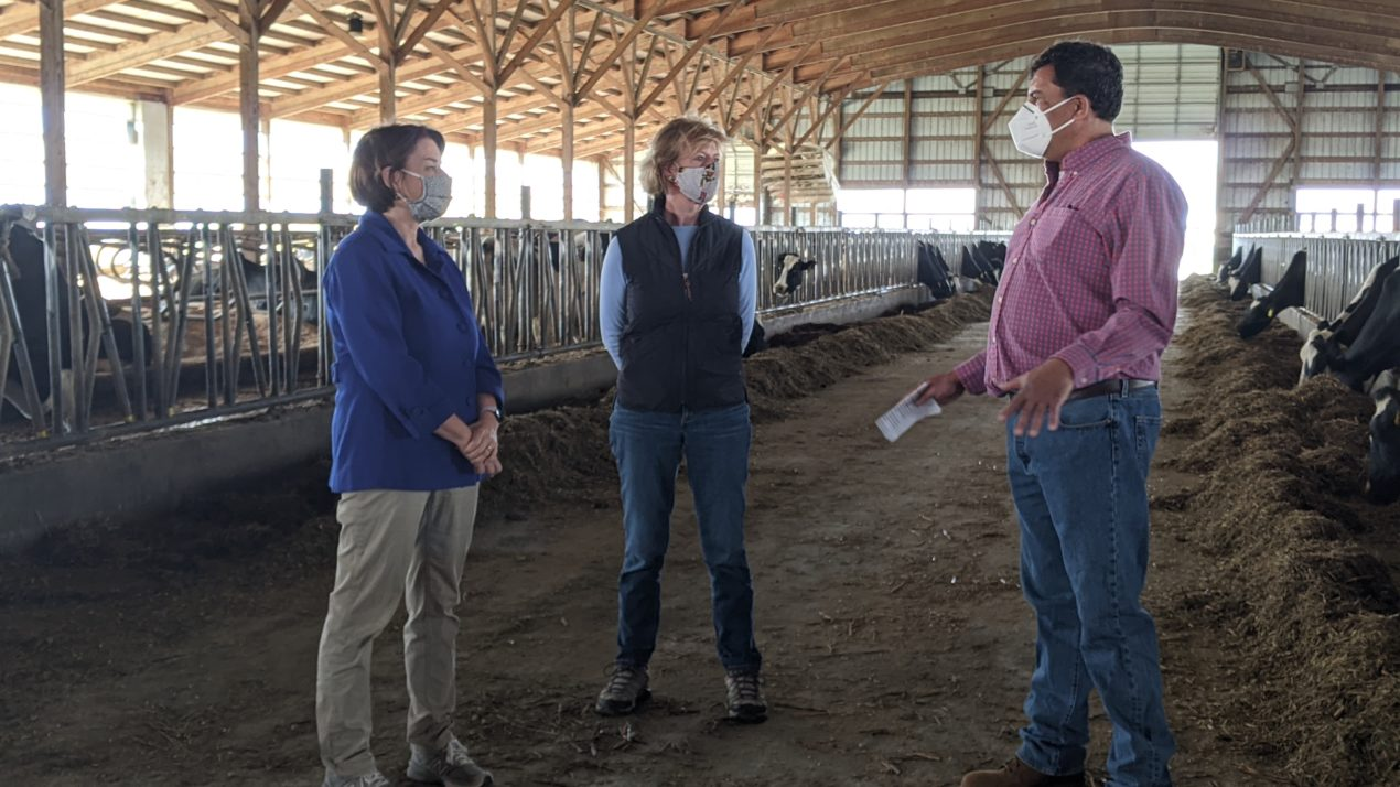 Senators Klobuchar and Baldwin discuss rural economy on Stoddard Farm