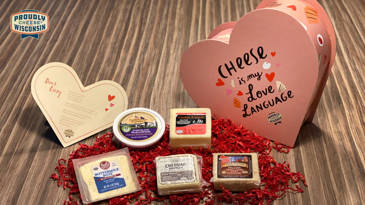 Wisconsin Cheese Launches Personalized Heart Shaped Boxes of Cheese